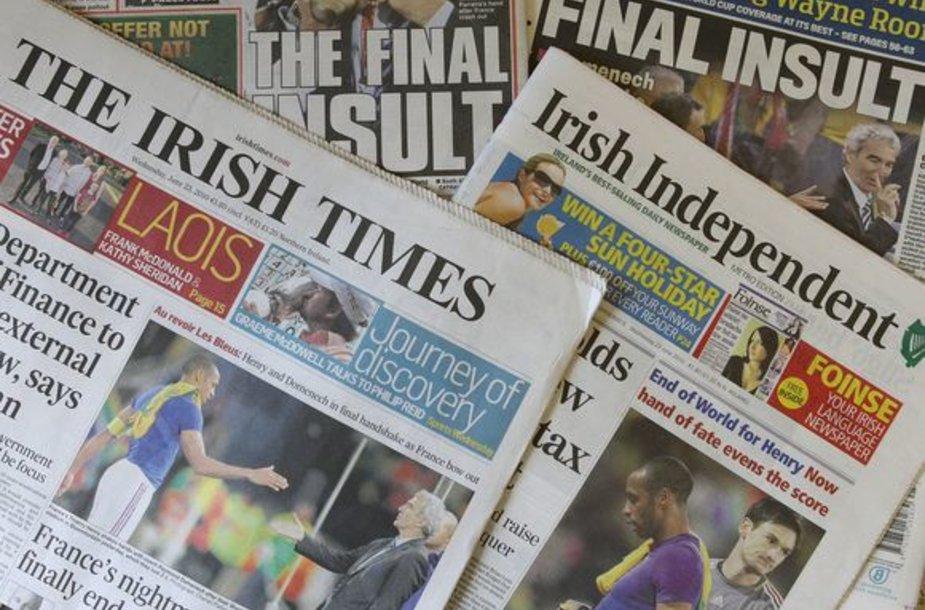 Airijos spauda džiaugiasi prancūzų nesėkme