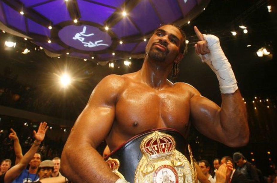 D.Haye tapo pasaulio sunkaus svorio bokso čempionu pagal WBA versiją