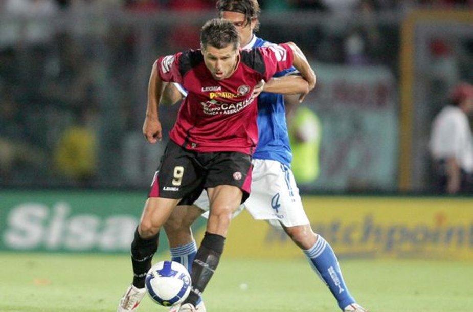 """""""Livorno"""" komandos kapitono raištį ryšėjęs T.Danilevičius tapo rungtynių didvyriumi"""
