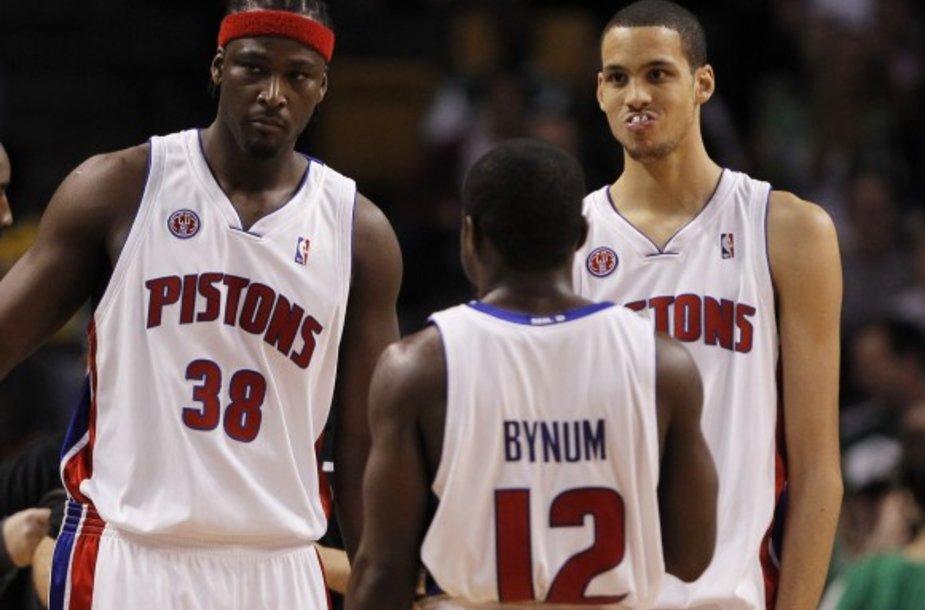 Pistons šventė retą pergalę