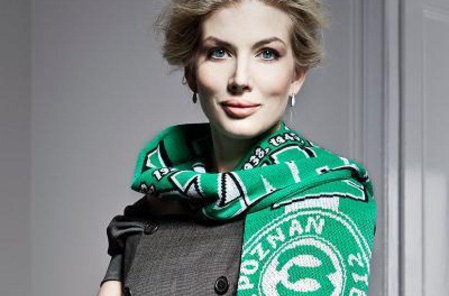 """Warta"" futbolo klubo prezidentė Izabella Lukomska-Pyzalska."