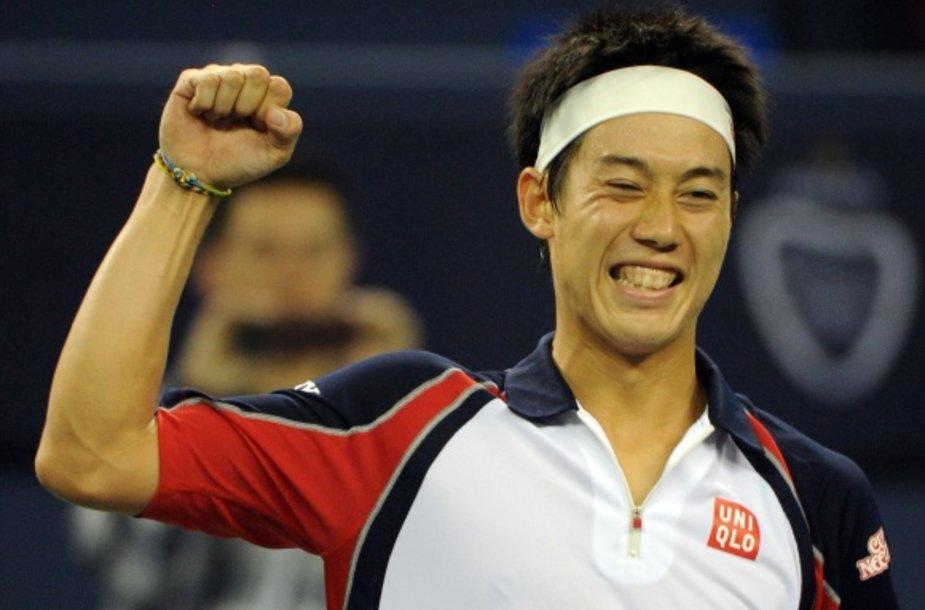 Kei Nishikorio džiaugsmas