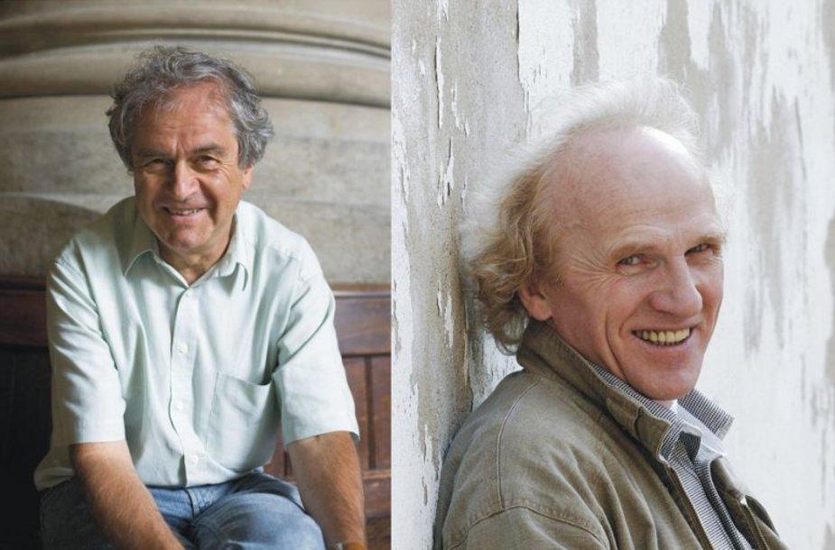 F.Mannas (kairėje) ir V.Tarasovas.