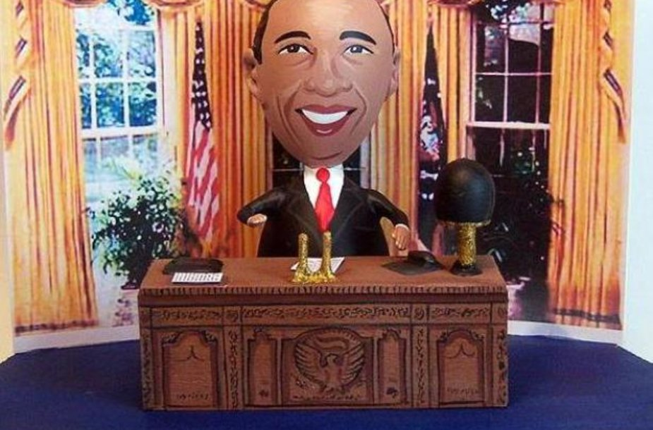 J.Lamouranne'o sukurtas JAV prezidentas Barackas Obama