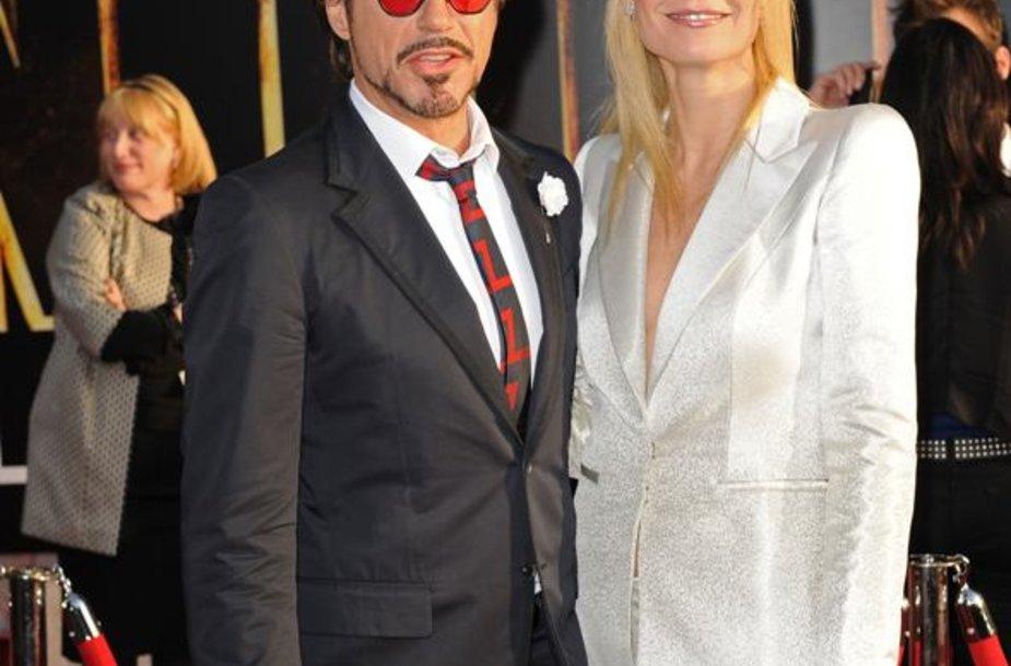 Gwyneth Paltrow ir Robertas Downey jaunesnysis