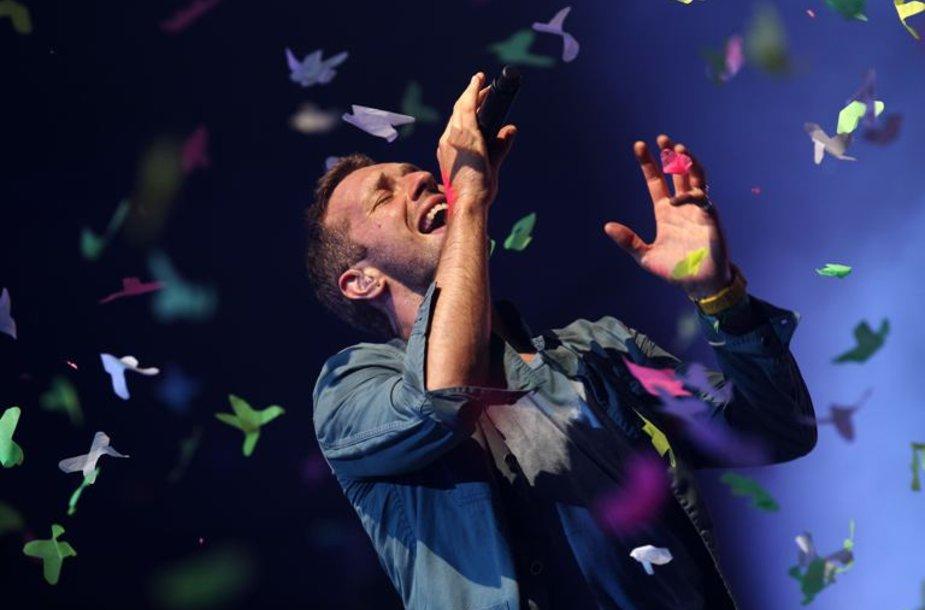 """""""Coldplay"""" lyderis Chrisas Martinas"""