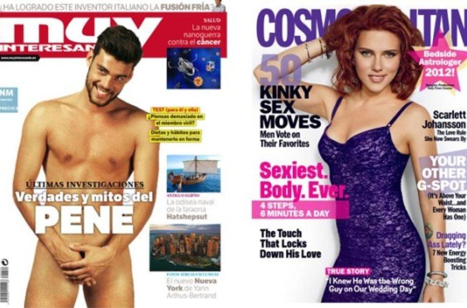 """Žurnalų """"Muy Interesante"""" (k.) ir """"Cosmopolitan"""" viršeliai."""