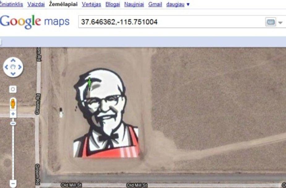 """""""Google Maps"""" žemėlapyje galima rasti ir tokių vaizdų."""