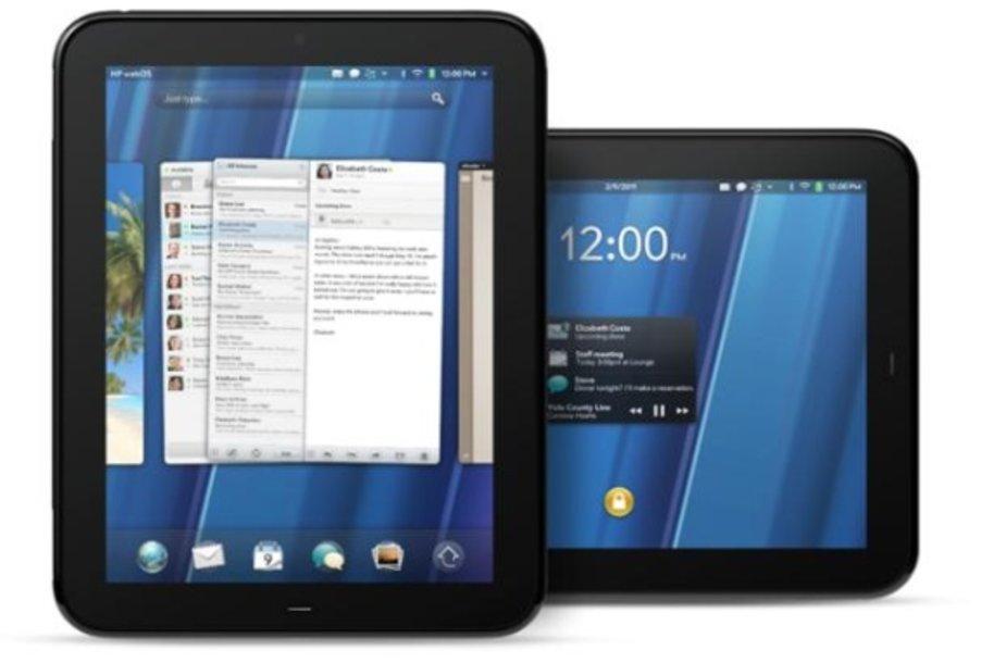 """HP planšetinis kompiuteris """"TouchPad"""" su operacine sistema """"webOS""""."""