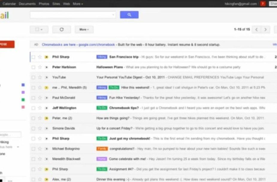 """Naujasis """"Gmail"""" dizainas"""