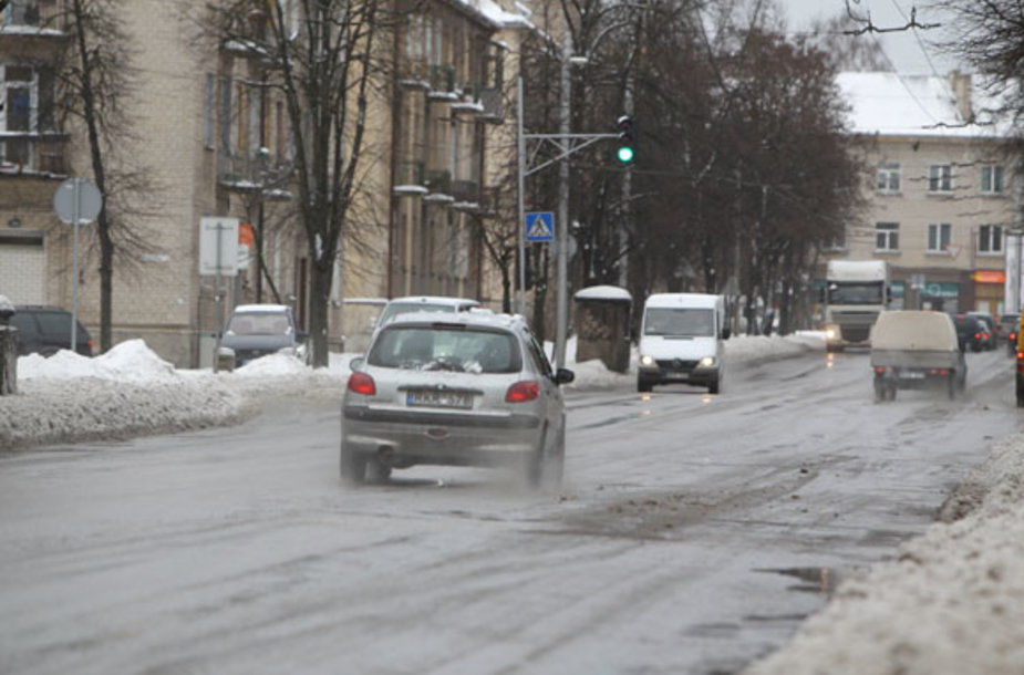 Žiema mieste