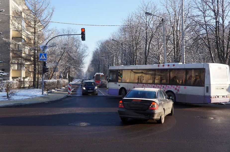 Rekonstruojama gatvė