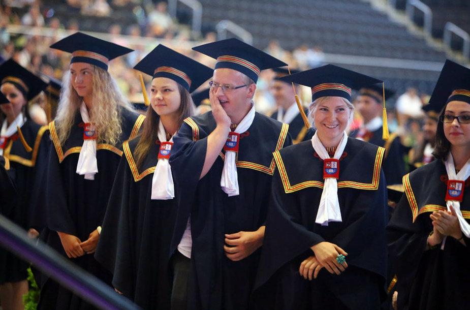 """Diplomų teikimas """"Žalgirio"""" arenoje"""