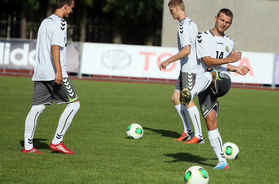 Lietuvos jaunimo (U-19) vaikinų futbolo rinktinės treniruotė