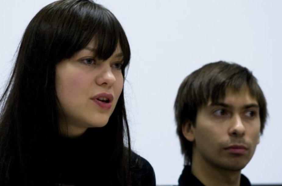 Tarptautinio Kauno kino festivalio direktorė Ilona Jurkonytė ir programos sudarytojas Tomas Tengmarkas.