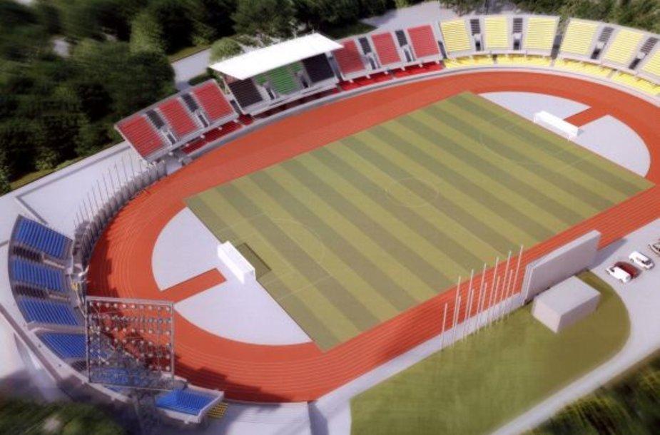 Štai kaip galėtų atrodyti futbolo stadionas Kaune