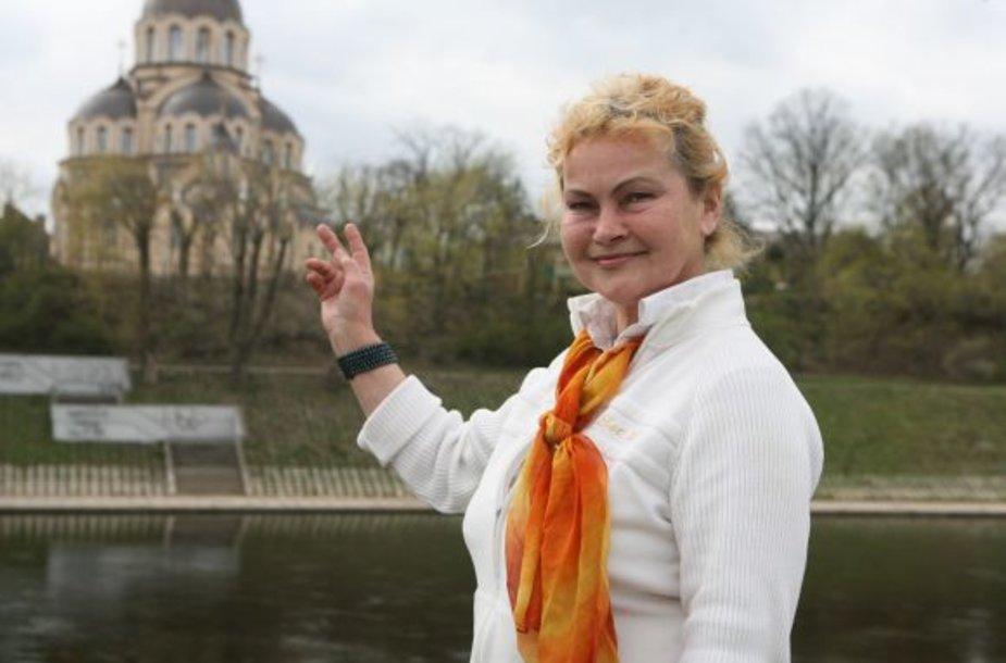 Gidė B.Ribokienė Vilniaus svečiams žada per 1 val. 40 min. aprodyti gražiausias Vilniaus vietas.