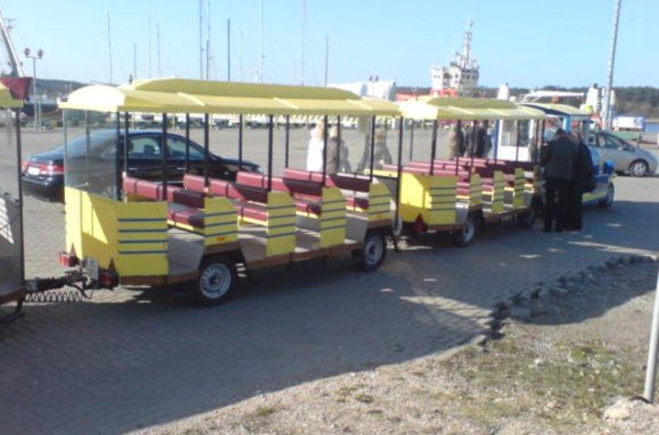 Nuo ketvirtadienio Kruiziniame laivų terminale pradėjo kursuoti traukinukas.