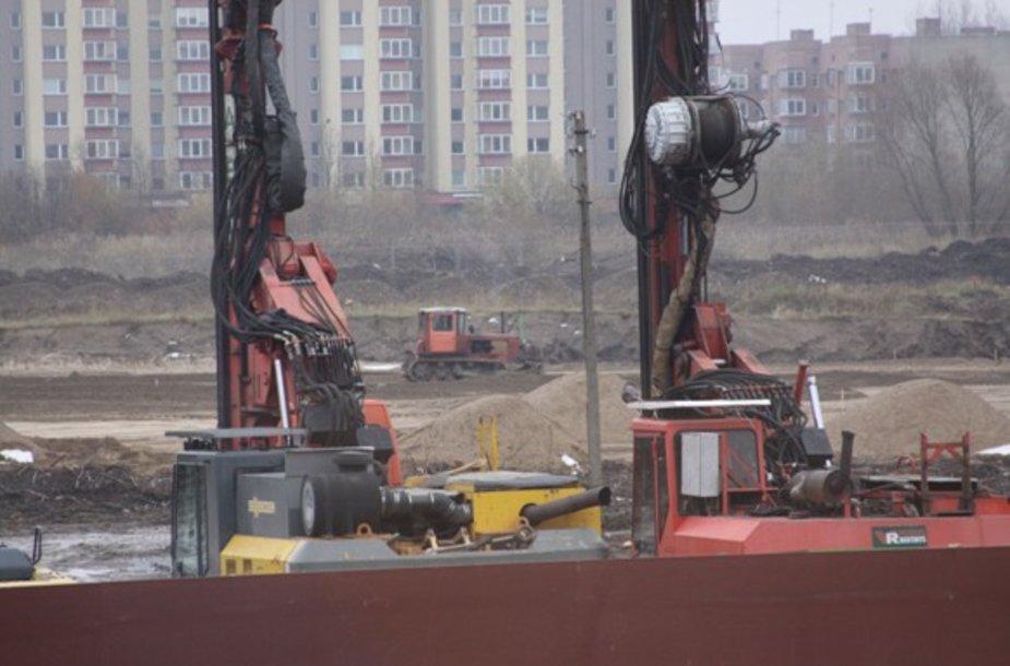Arenos statybos tempai vis dar atsilieka nuo grafiko.