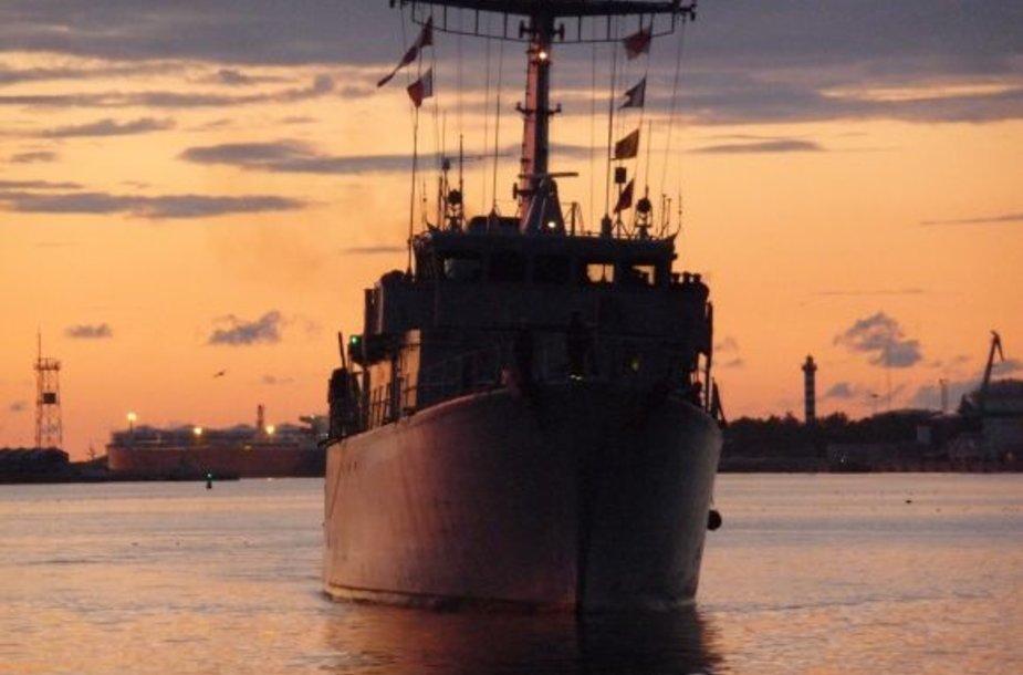 """Klaipėdiečiai kviečiami apžiūrėti įspūdingą prancūzų laivą """"L'Aigle""""."""