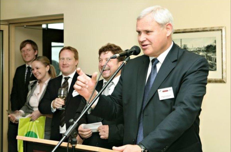 Klaipedos miesto meras V. Grubliauskas susitiko su investuotojais.