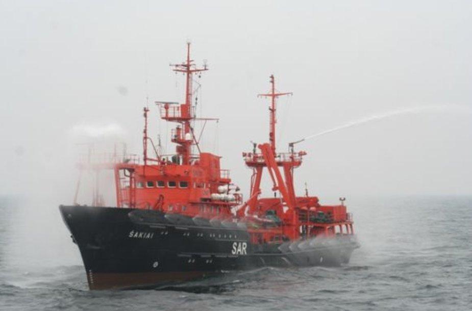 """Laivas """"Šakiai"""" dalyvauja pratybose Baltijos jūroje"""