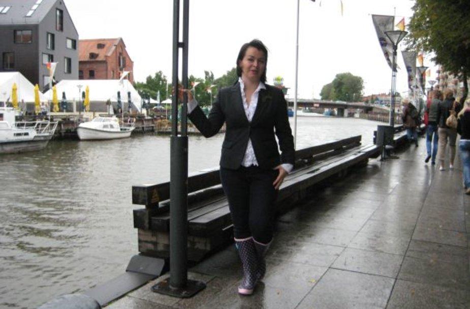 Ingai Grubliauskienei kilo mintis Danės krantinėje atverti Miestų alėją.