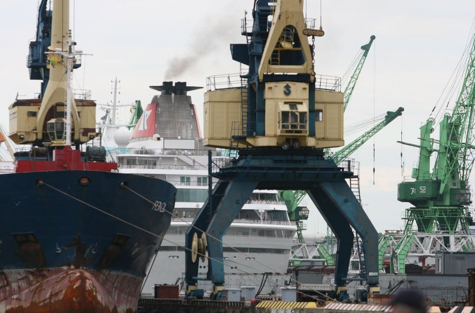 """""""Balmoral"""" prisišvartavo KLASCO teritorijoje ir nuo Kruizinių laivų terminalo ne taip gerai matomas."""