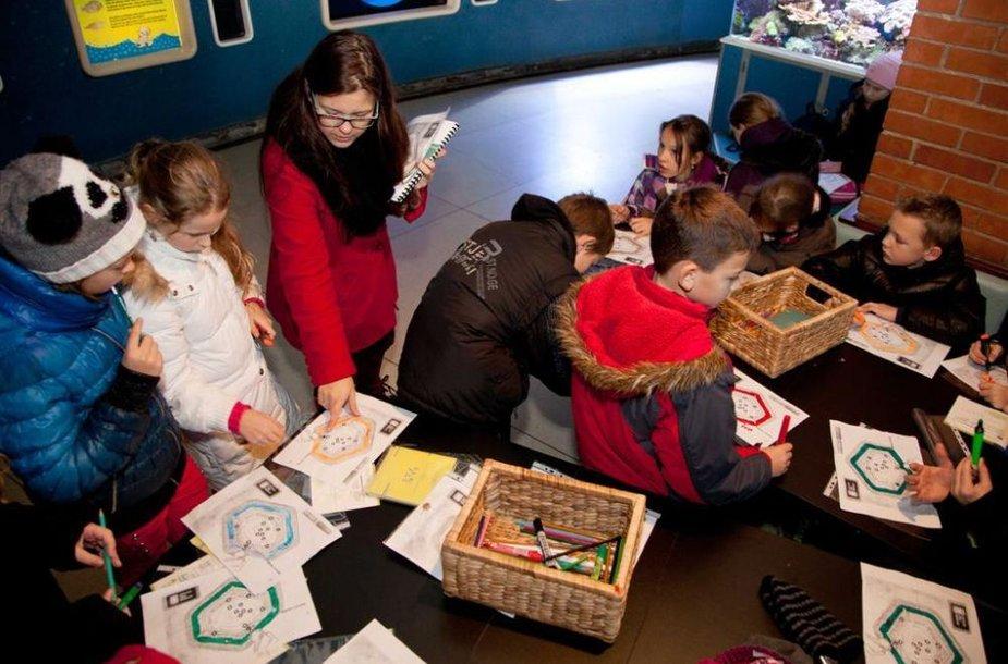Jūrų muziejuje rengiamos kūrybinės dirbtuvės.