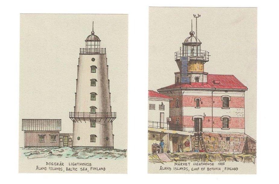 Aidas Jurkštas pristato Suomijos švyturių kolekciją.