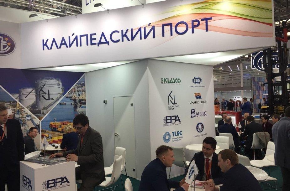 Klaipėdos uostas pristatomas parodoje Maskvoje.