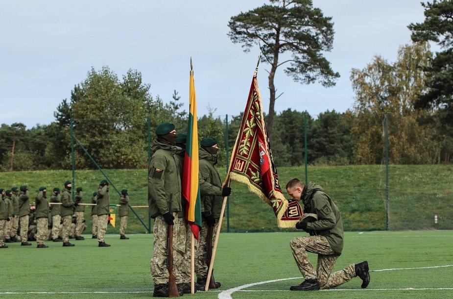 Iškilminga karių priesaikos ceremonija.