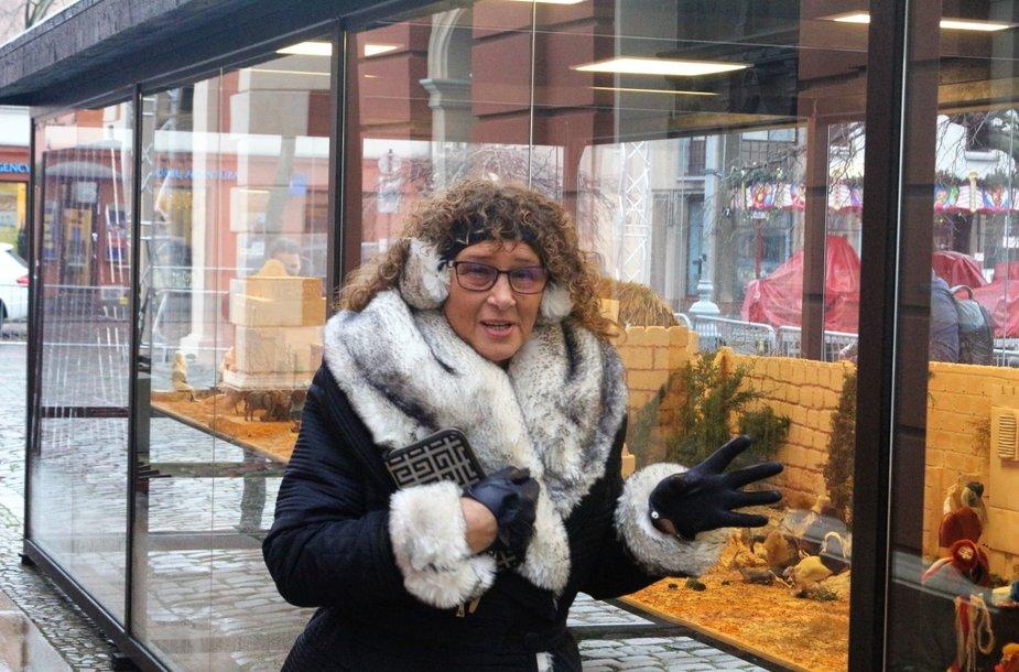 Aida Raimonda Pečeliūnienė miestui padovanojo unikalią kalėdinę ekspoziciją.