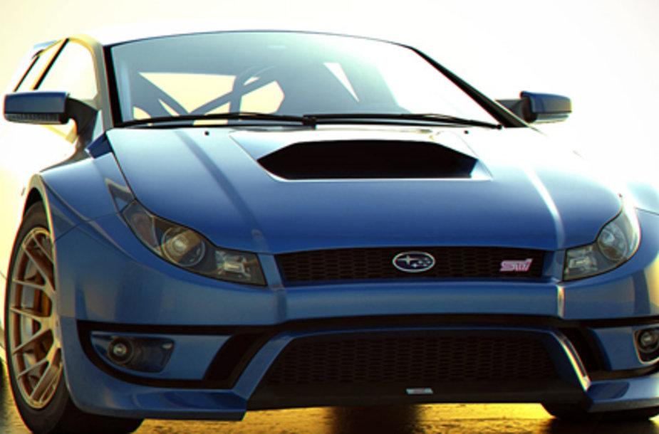 """Štai taip """"Subaru"""" įsivaizduoja savo tapatybės neatskleidžiantis dizaineris."""