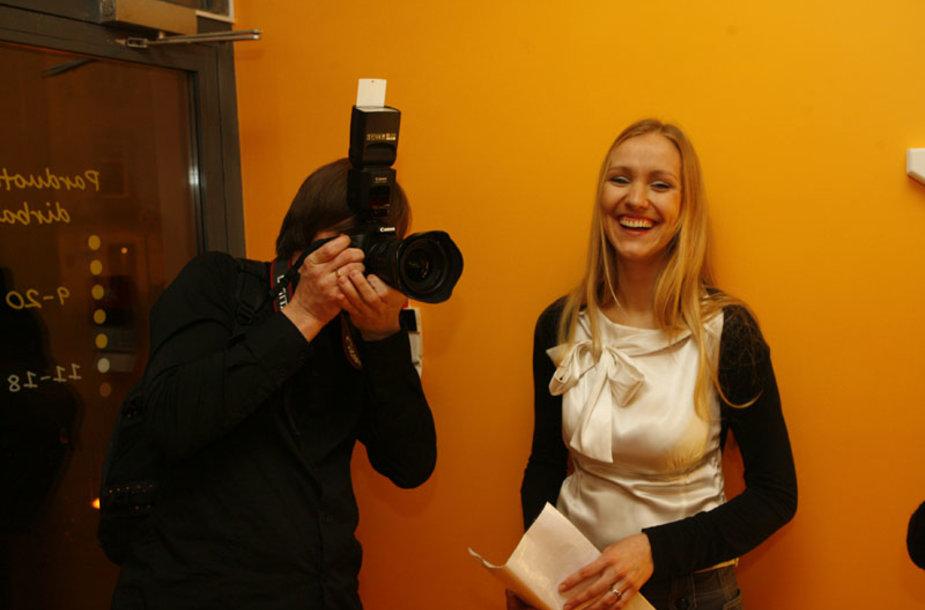 Foto naujienai: Agnieška ir Andrius Dobrovolskiai: paskui žmoną – su fotoaparatu