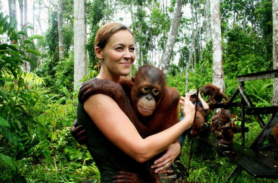 Foto naujienai: Neringa Skrudupaitė: pas orangutanų karalienę