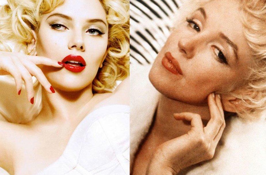 Foto naujienai: Scarlett Johansson ir Marilyn Monroe. Jos iš tiesų labai panašios