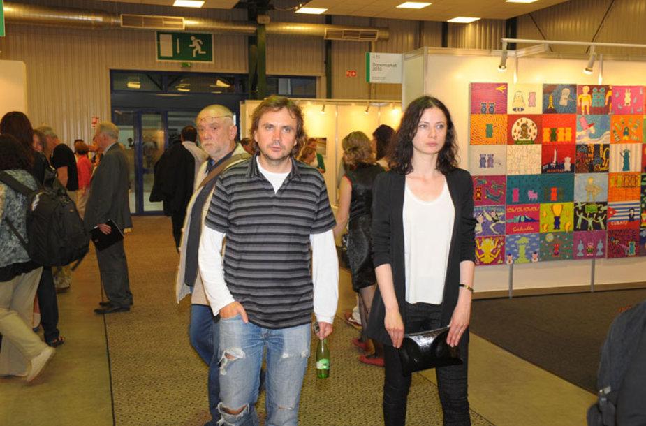 Foto naujienai: Oskaras Koršunovas ir Agnė Kuzmickaitė – draugai