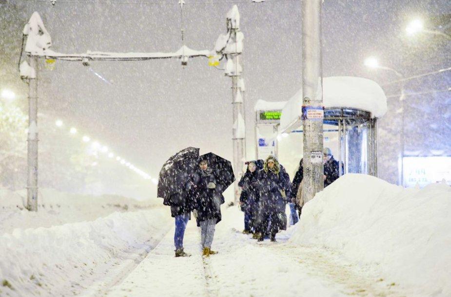 Zagrebe tiek sniego nebuvo jau 80 metų.