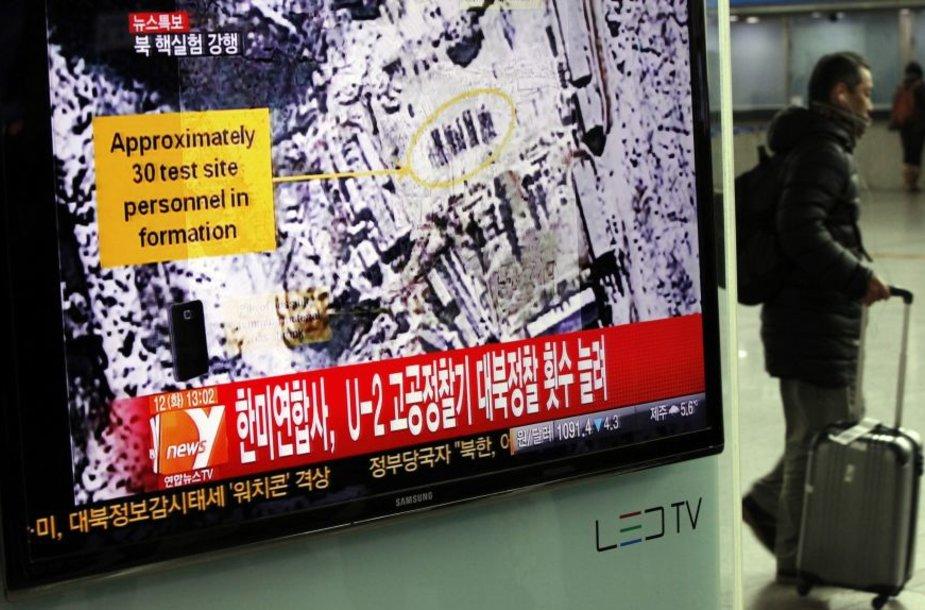 Spėliojama, kad Šiaurės Korėja  atliko branduolinius bandymus.