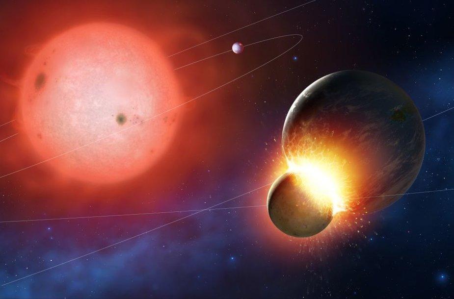 Saulei iš raudonosios milžinės virstant baltąja nykštuke ji praras didžiąją dalį savo masės ir visos planetos nutols. Tai gali destabilizuoti jų orbitas ir planetos gali vienos su kitomis susidurti.