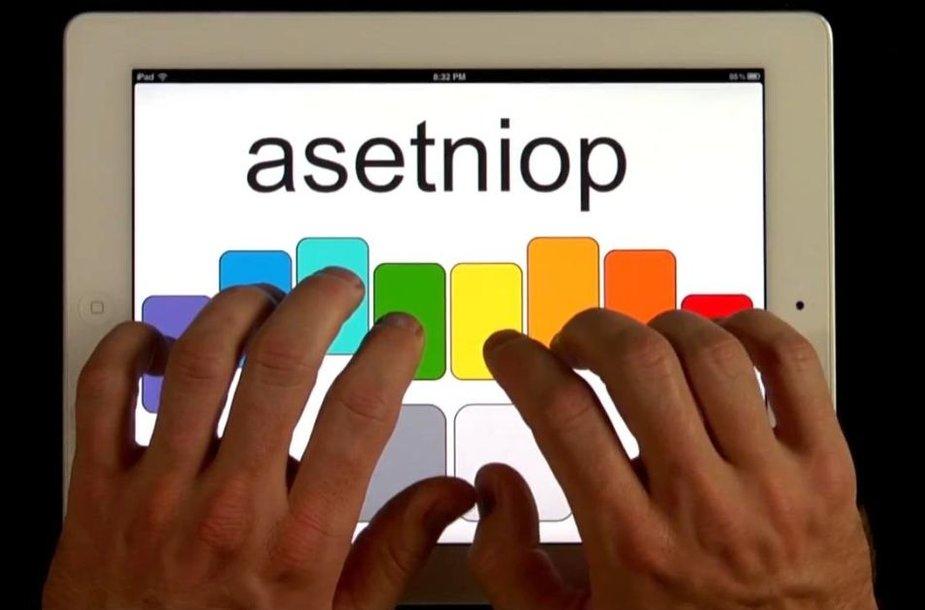 """""""Asetniop"""" klaviatūra"""