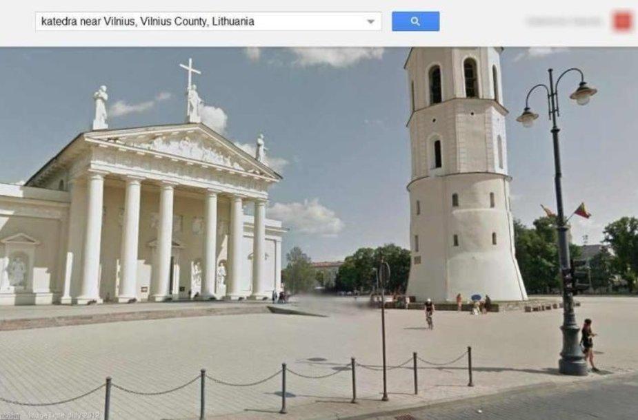 """Katedros aikštė """"Google Maps"""" tarnyboje"""