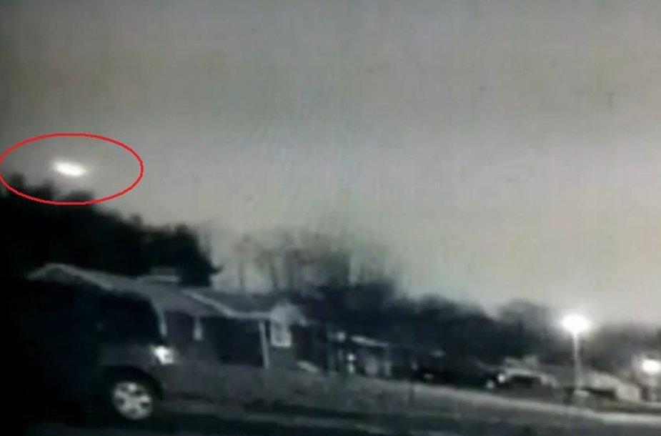 Savaitgalį didelis meteoras sudegė virš Niujorko