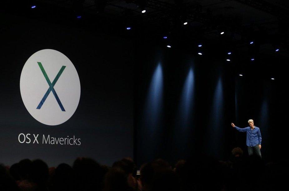 """""""Apple"""" pristatė atnaujintą operacinę sistemą """"OS X Mavericks"""""""