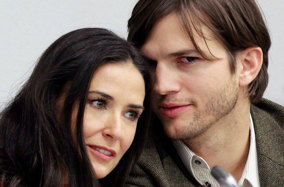 Demi Moore ir Ashtonas Kutcheris 2010-ųjų lapkritį