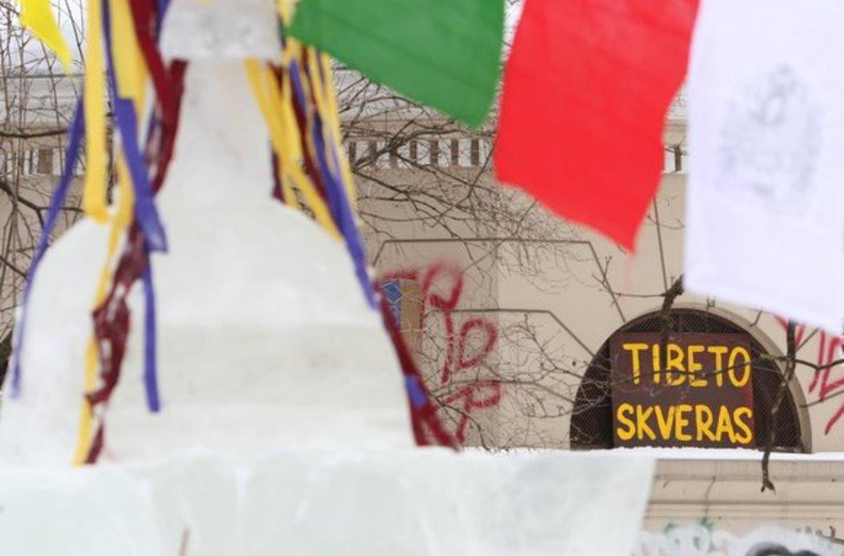"""""""Tibeto"""" skvero atidarymo akimirka"""