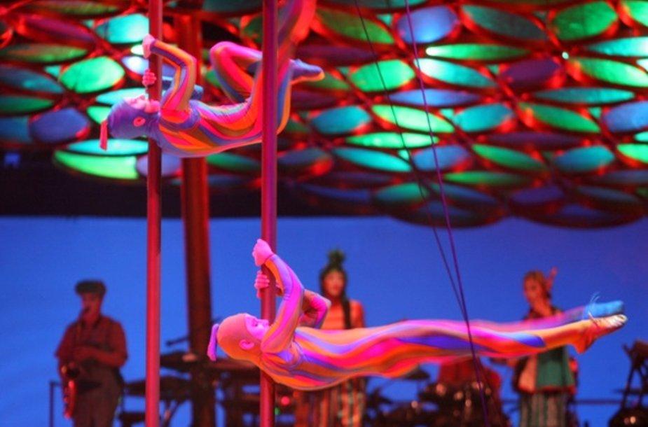 """Cirque du Soleil"" pasirodymo Vilniuje akimirka"