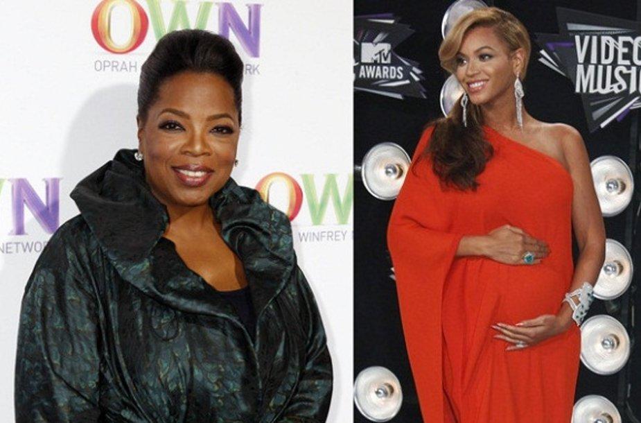 Oprah Winfrey (kairėje) ir Beyonce