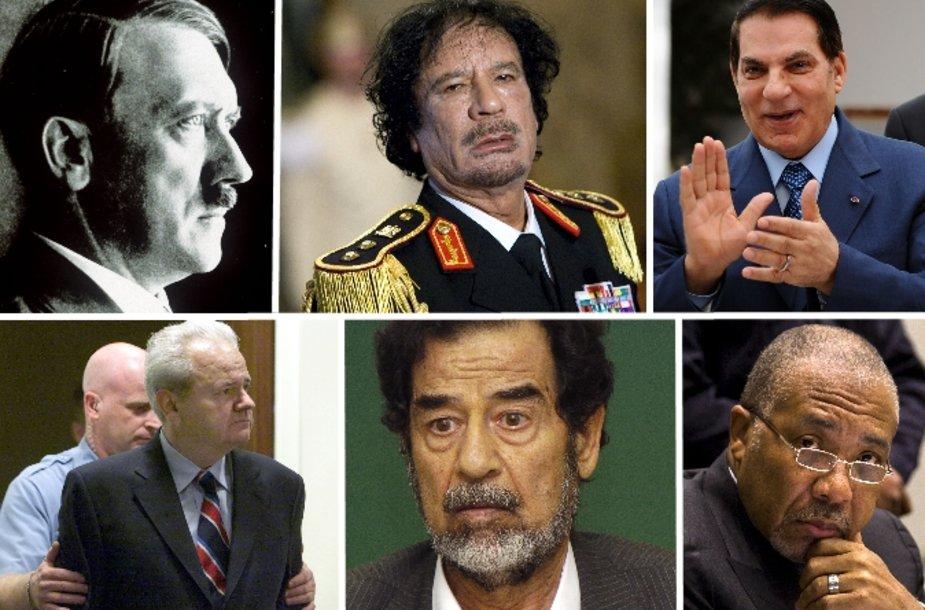 Diktatorių likimai pasuka įvairiais keliais